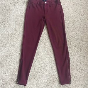Madewell legging pants with side zip, size 00